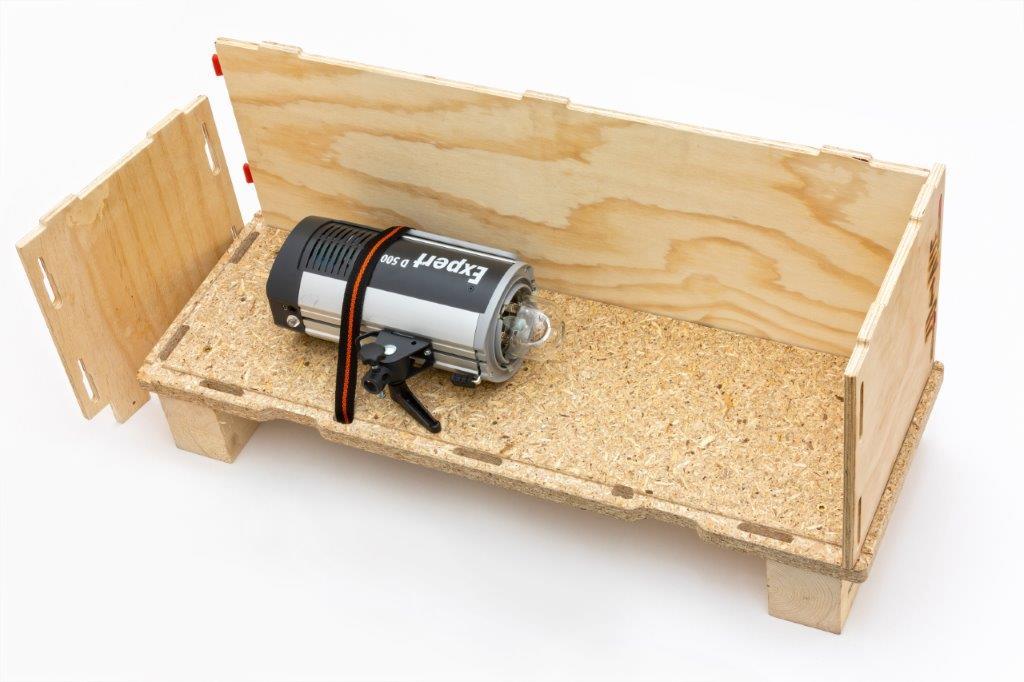 Die KammererBOX aus Holz geöffnet
