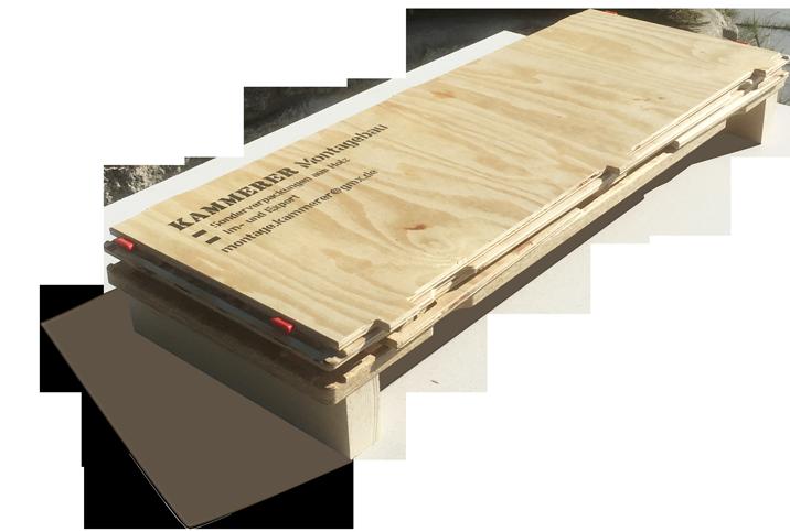 Holzverpackung kompakt im Transport